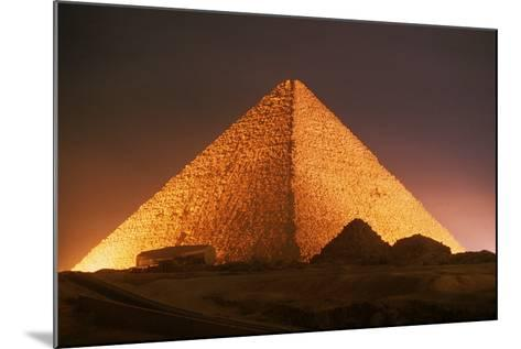 Pyramid of Cheops at Night-Roger Ressmeyer-Mounted Photographic Print