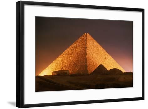Pyramid of Cheops at Night-Roger Ressmeyer-Framed Art Print