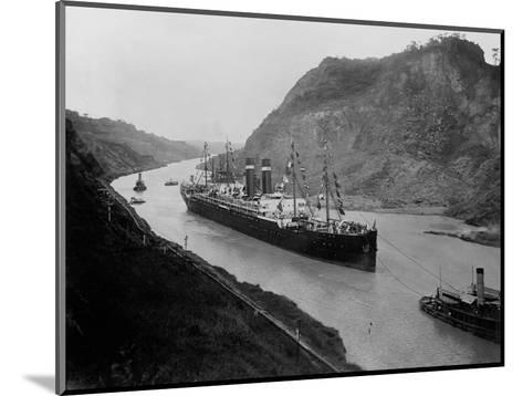 The S.S. Kronland in Panama--Mounted Photographic Print