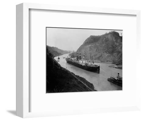The S.S. Kronland in Panama--Framed Art Print