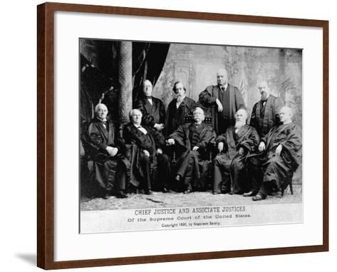 Portrait of the 1890 Supreme Court-Napoleon Sarony-Framed Art Print
