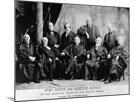 Portrait of the 1890 Supreme Court-Napoleon Sarony-Mounted Photographic Print