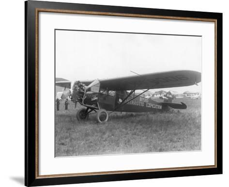 "Plane Marked ""Byrd Antarctic Expedition""--Framed Art Print"
