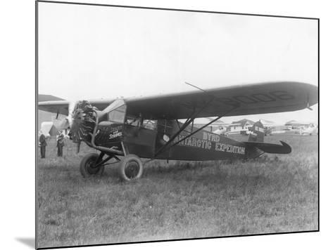 "Plane Marked ""Byrd Antarctic Expedition""--Mounted Photographic Print"
