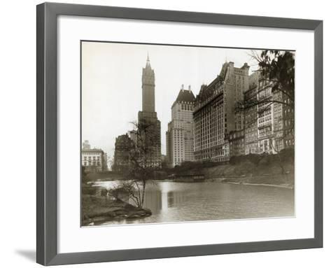 Plaza Hotel as Seen from Central Park--Framed Art Print