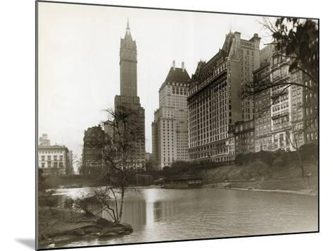 Plaza Hotel as Seen from Central Park--Mounted Photographic Print