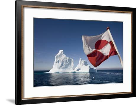 Greenland Flag on Arctic Umiaq Line Ferry-Paul Souders-Framed Art Print