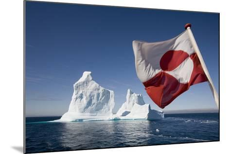 Greenland Flag on Arctic Umiaq Line Ferry-Paul Souders-Mounted Photographic Print