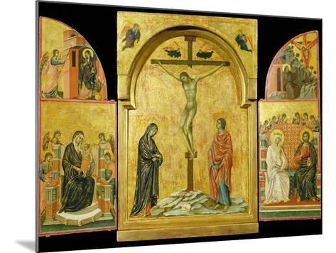 Crucifixion Altarpiece-Duccio di Buoninsegna-Mounted Photographic Print