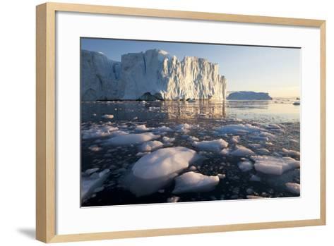 Icebergs in Disko Bay in Greenland-Paul Souders-Framed Art Print