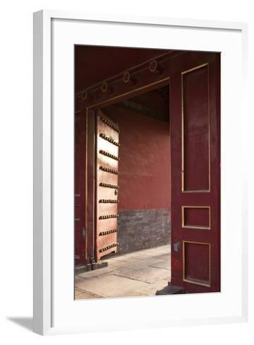 Open Gates at the Forbidden City-Paul Souders-Framed Art Print