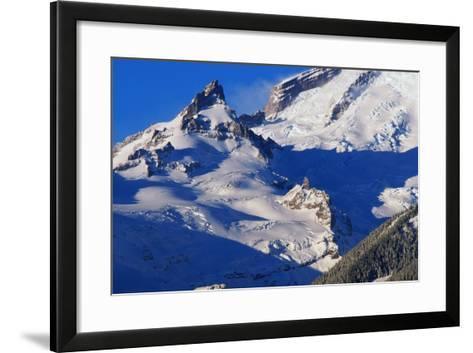 Pinnacle and Glacier on Mount Rainier-Paul Souders-Framed Art Print