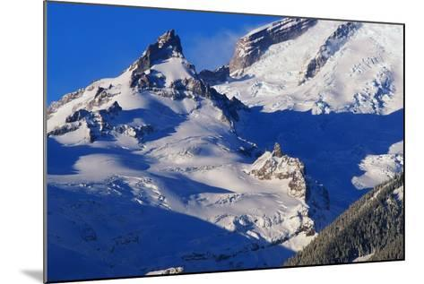Pinnacle and Glacier on Mount Rainier-Paul Souders-Mounted Photographic Print