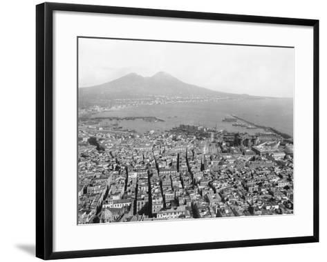 Naples and Mount Vesuvius-Edizioni Bregi-Framed Art Print