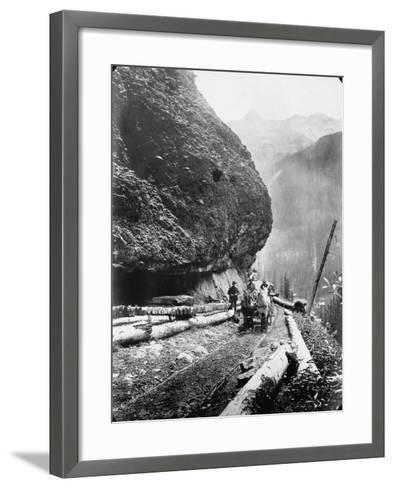 Gold Miners Near Ouray, Colorado--Framed Art Print
