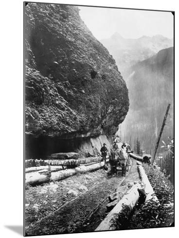 Gold Miners Near Ouray, Colorado--Mounted Photographic Print