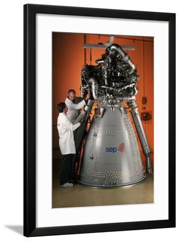Vulcain Engine of Ariane 5-Roger Ressmeyer-Framed Art Print