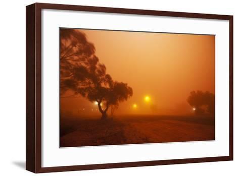 Dust Storm in the Australian Outback-Paul Souders-Framed Art Print