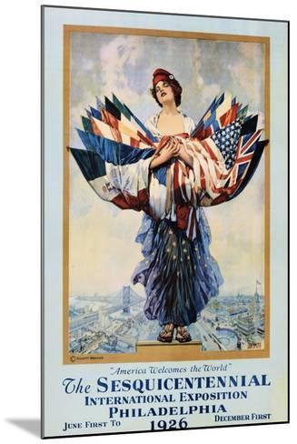 The Sesquicentennial International Exposition - Philadelphia 1926 Poster-Dan Smith-Mounted Photographic Print