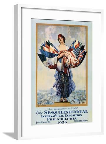 The Sesquicentennial International Exposition - Philadelphia 1926 Poster-Dan Smith-Framed Art Print
