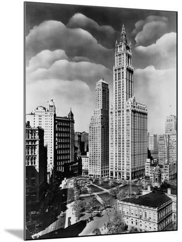 Woolworth Building and City Hall Park, Manhattan--Mounted Photographic Print