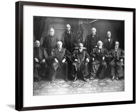 Portrait of the 1888 Supreme Court-C.M. Bell-Framed Art Print