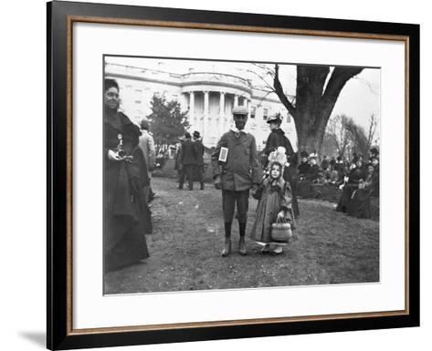Children Holding Hands at White House Easter Egg Roll-Frances Benjamin Johnston-Framed Art Print