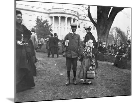 Children Holding Hands at White House Easter Egg Roll-Frances Benjamin Johnston-Mounted Photographic Print