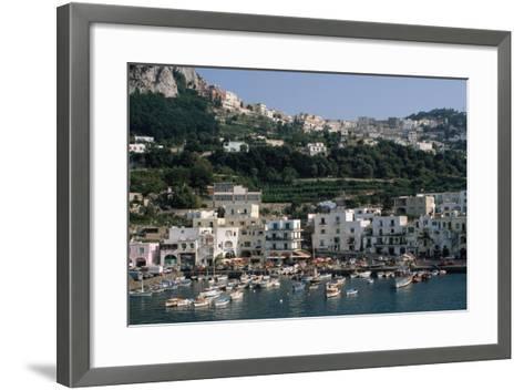Capri Harbor-Vittoriano Rastelli-Framed Art Print
