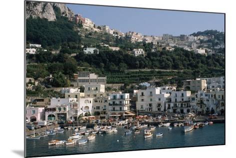 Capri Harbor-Vittoriano Rastelli-Mounted Photographic Print