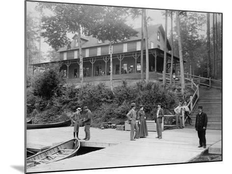 Boaters at Lake Lodge-Seneca Ray Stoddard-Mounted Photographic Print