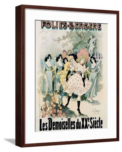 Folies-Bergere: Les Demoiselles Du Vingtieme Siecle Poster-A. Trinquier-Trianon-Framed Art Print
