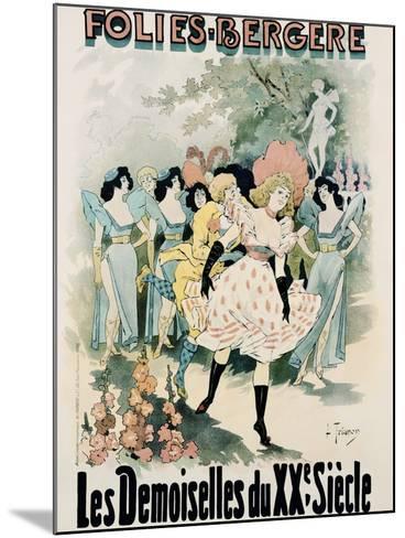 Folies-Bergere: Les Demoiselles Du Vingtieme Siecle Poster-A. Trinquier-Trianon-Mounted Photographic Print