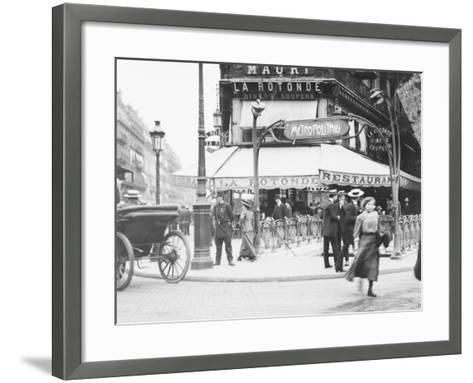 Metro Entrance and Restaurant--Framed Art Print
