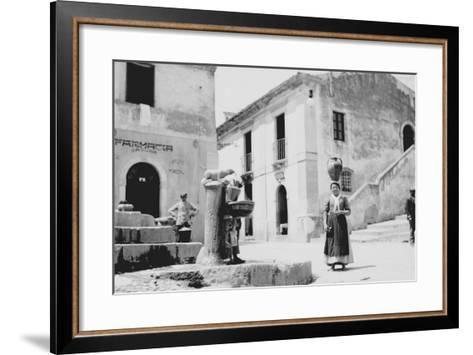 Water Fountain in Sicily--Framed Art Print