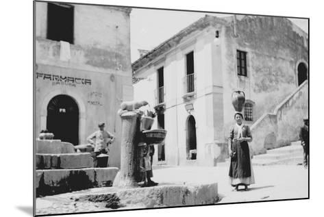 Water Fountain in Sicily--Mounted Photographic Print