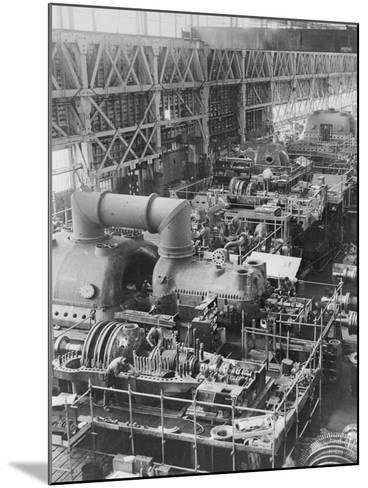 Steam Turbines Being Assembled--Mounted Photographic Print