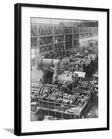 Steam Turbines Being Assembled--Framed Art Print