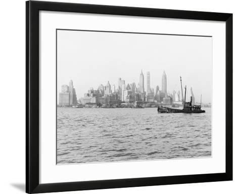 Steamboat in New York Harbor--Framed Art Print