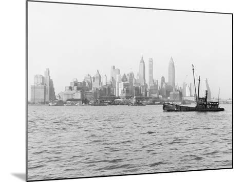 Steamboat in New York Harbor--Mounted Photographic Print