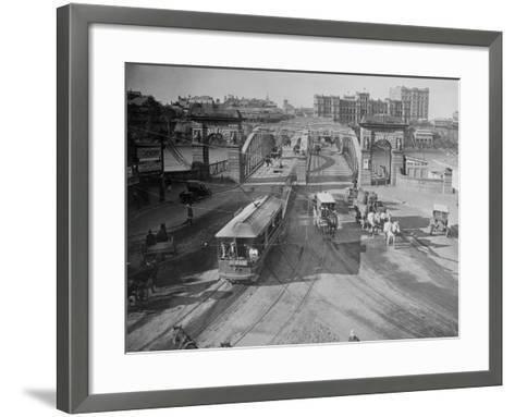 View of Victoria Bridge--Framed Art Print