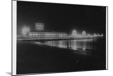 Steeplechase Pier at Night--Mounted Photographic Print