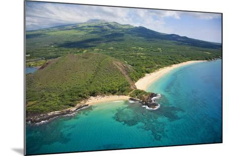 Aerial View of Maui, Little Beach and Big Beach, Hawaii-Ron Dahlquist-Mounted Photographic Print