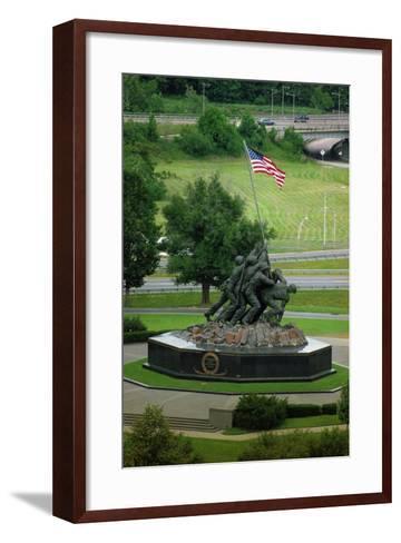 Iwo Jima Memorial in Washington Dc on Flag Day--Framed Art Print