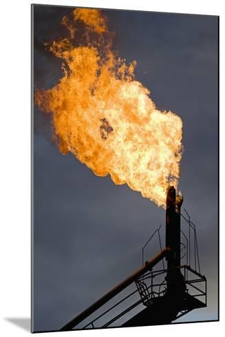 Natural Gas Flare--Mounted Photographic Print