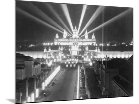 National Palace at Barcelona--Mounted Photographic Print