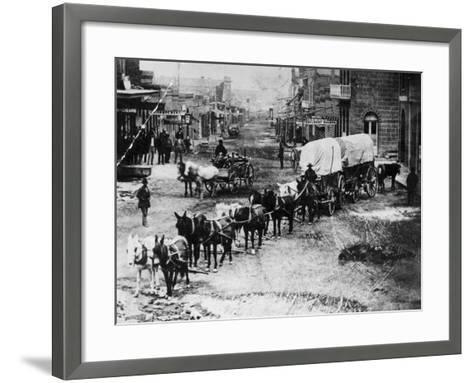 Horse Drawn Covered Wagon--Framed Art Print