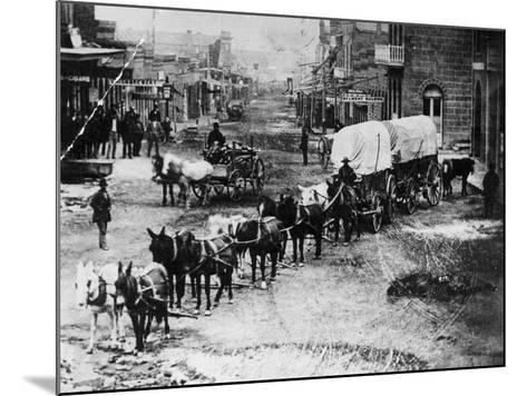 Horse Drawn Covered Wagon--Mounted Photographic Print