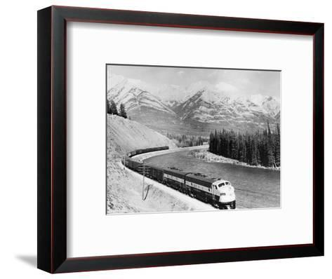 View of Moving Train--Framed Art Print