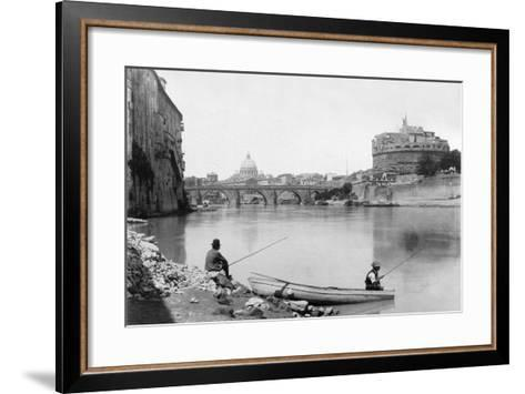 View of Rome and the Tiber (1900)--Framed Art Print